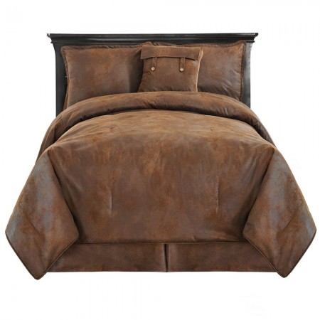 Faux Leather Comforter Set