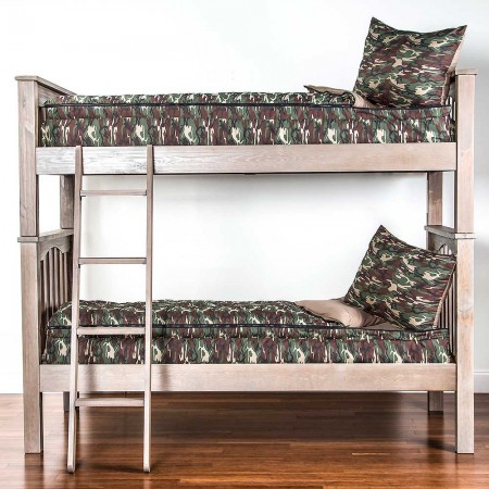 Galaxy Camo Twin Size Bunkie - Includes Pillow Sham