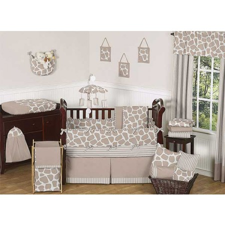 Giraffe 11 Piece Bumperless Crib Set by Sweet Jojo Design
