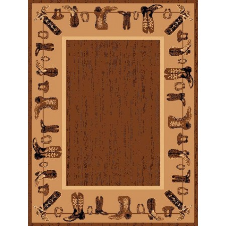 LODGE-375 Cowboy Boots Area Rug - Lodge Collection