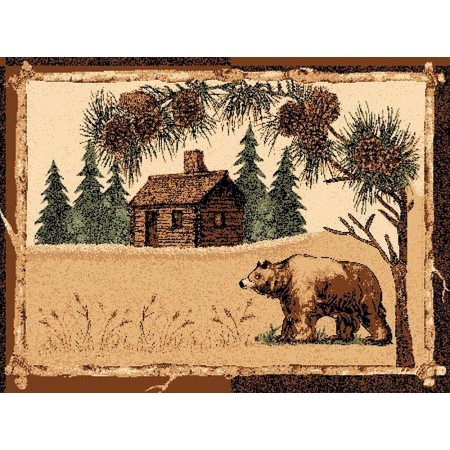 LODGE-376 Bear at the Cabin Area Rug - Lodge Collection