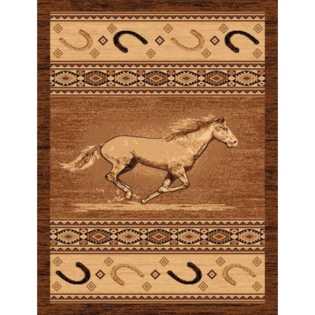 LODGE-372 Galloping Horse Area Rug - Lodge Collection