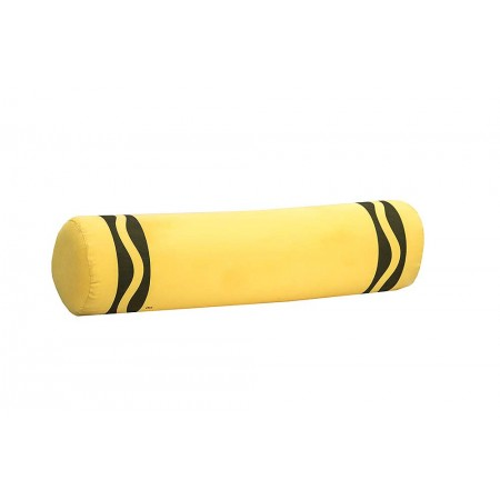 Crayola Crayon Bolster Pillow - Lemon Yellow
