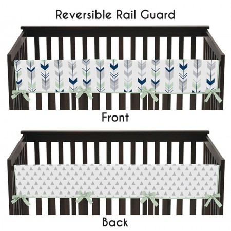 Mod Arrow Gray, Navy & Mint Collection Long Rail Guard Cover