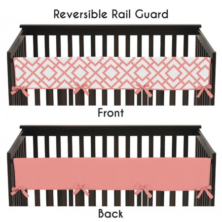 Mod Diamond White & Coral Collection Long Rail Guard Cover