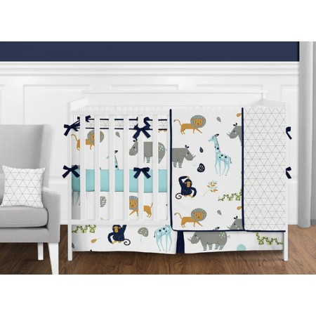 Mod Jungle 11 Piece Bumperless Crib Set by Sweet Jojo Design