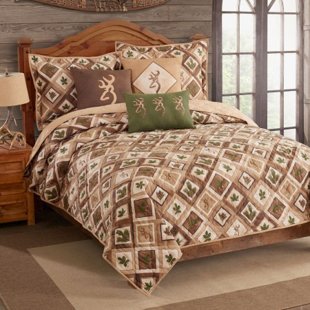 Nature Buckmark  Quilt and Sham Set - Full / Queen