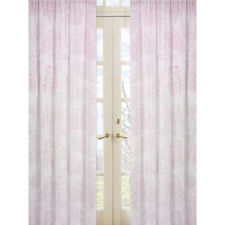 Pink French Toile Window Panels