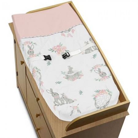 Bunny Floral Changing Pad Cover