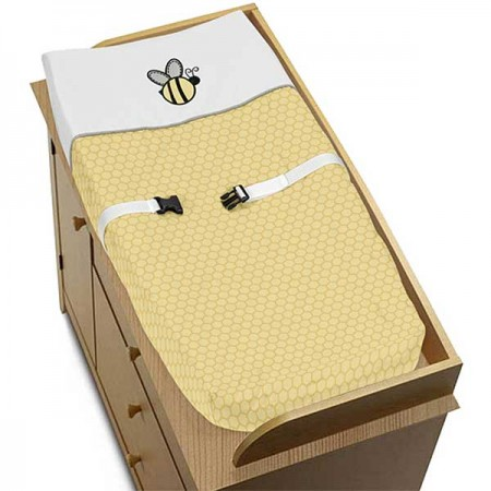 Honey Bee Changing Pad Cover