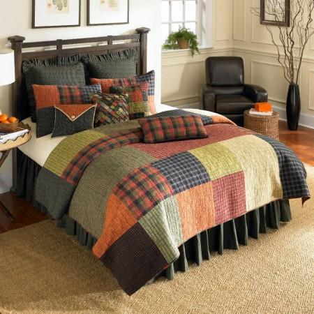 Woodland Square Full/Queen Size Quilt - 90 X 90