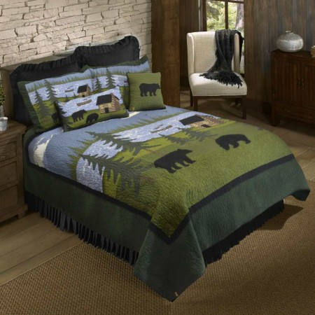 Donna Sharp Bear River King Size Quilt - 110 X 96