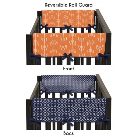 Arrow Orange & Navy Side Rail Guard Covers - Set of 2