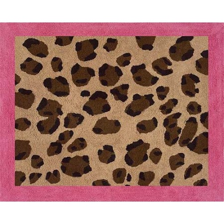Cheetah Pink Floor Rug