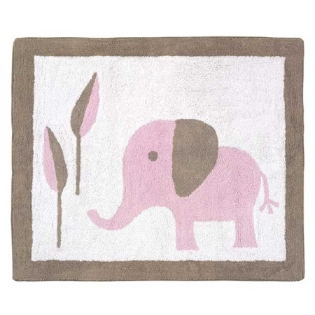 Elephant Pink & Taupe Floor Rug