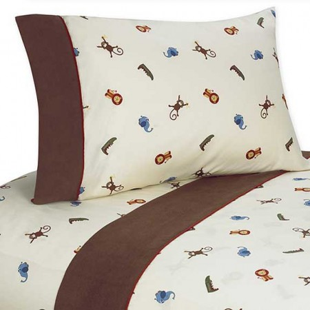 Jungle Time Twin Size Sheet Set