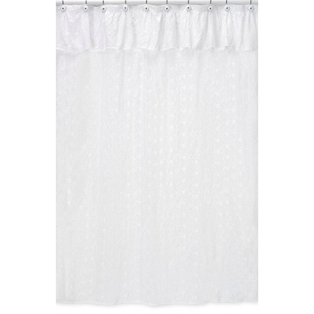 Eyelet White Shower Curtain