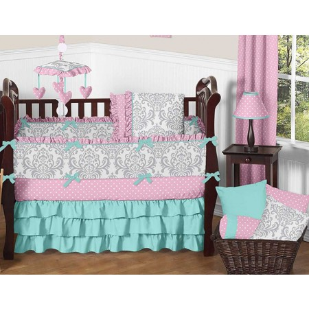 Skylar 11 Piece Bumperless Crib Set by Sweet Jojo Design