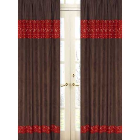 Wild West Cowboy Western Window Panels (Chocolate Brown)