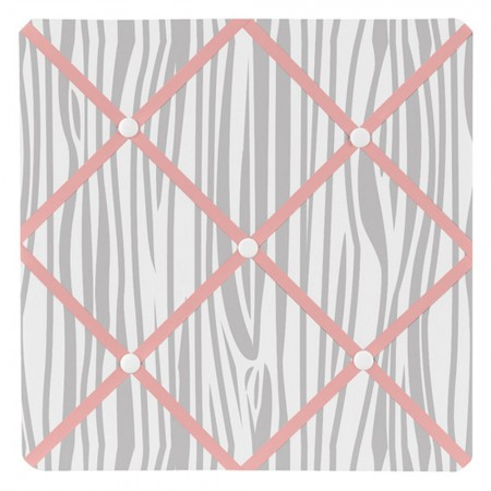 Woodsy Coral, Mint & Grey Fabric Memo Board