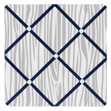 Woodsy Navy, Mint & Grey Fabric Memo Board