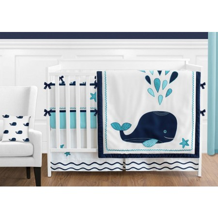 Whale 11 Piece Bumperless Crib Set by Sweet Jojo Design