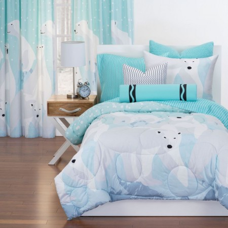 White Bear Comforter Set from Crayola