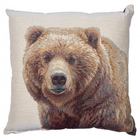 Bear Jacquard Accent Pillow (18 x 18)