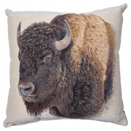 Buffalo Jacquard Accent Pillow (18 x 18)