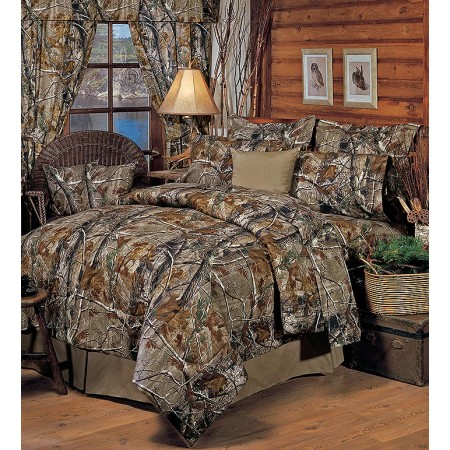 All Purpose Camouflage Comforter Set by Realtree - Queen Size