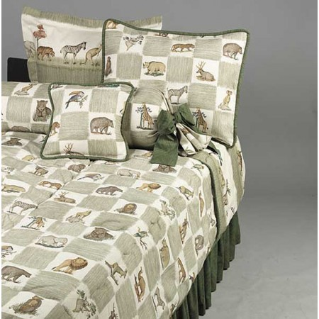 Animal Kingdom Queen Size Duvet Cover by California Kids (Reverses to Print)