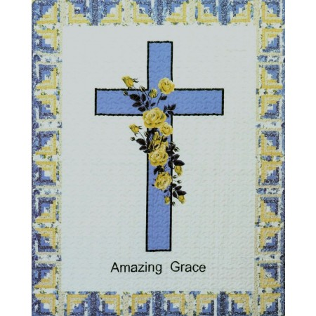 Amazing Grace (Blue) Throw Size Quilt