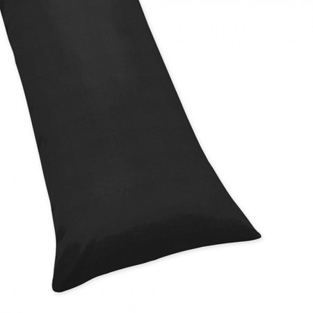 Solid Black Body Pillow Cover