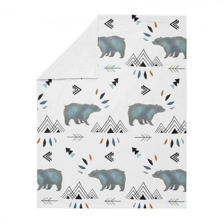 Bear Mountain Baby Blanket