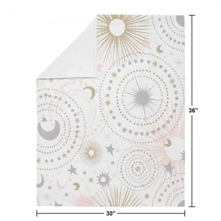 Celestial Pink & Gold Baby Blanket
