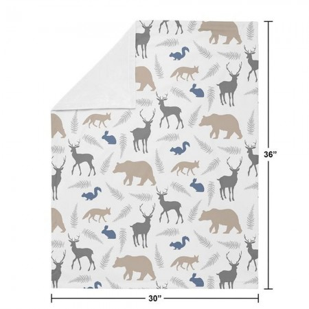Woodland Animals Baby Blanket