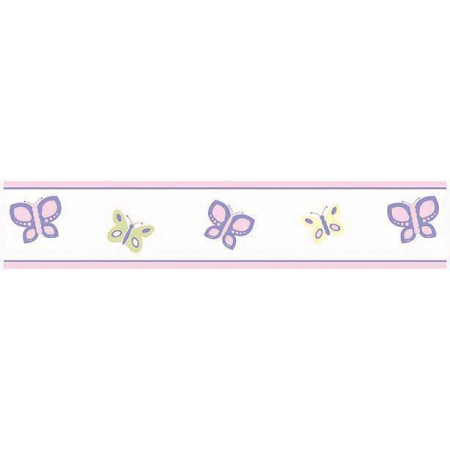 Butterfly Pink And Purple Wall Border