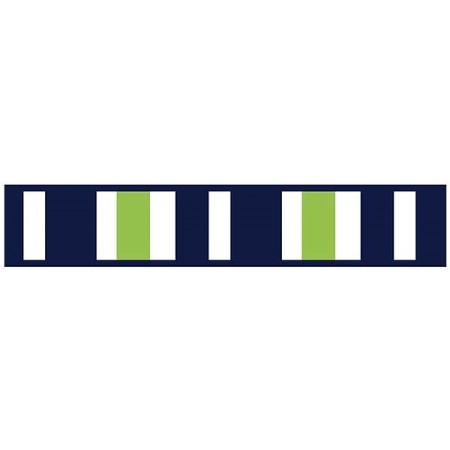 Navy & Lime Stripe Border