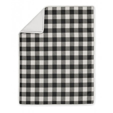 Black & White Buffalo Check Crib Bedding Set by Sweet Jojo Designs - 4 piece