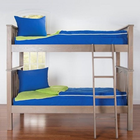 Crayola My Color Two-Tone Zippered Bunk Bed Beddding - Twin Size Bunkie Sets - Available in 32 Fun Color Combinations