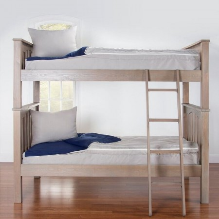 Crayola My Color Two-Tone Zippered Bunk Bed Beddding - Twin Size Bunkie Sets - Sky Blue & Tickle Me Pink