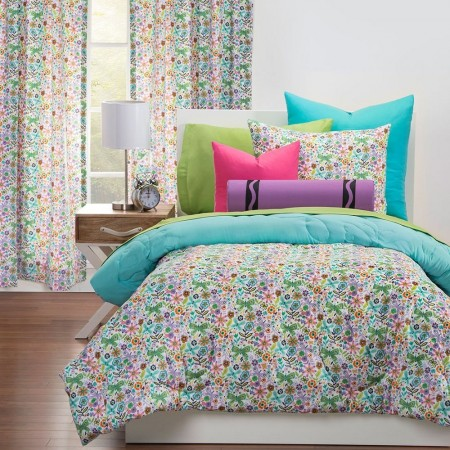 Butterfly Garden Comforter Set from Crayola