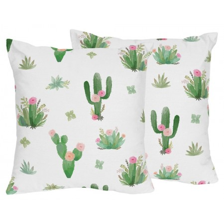 Cactus Floral Accent Pillow