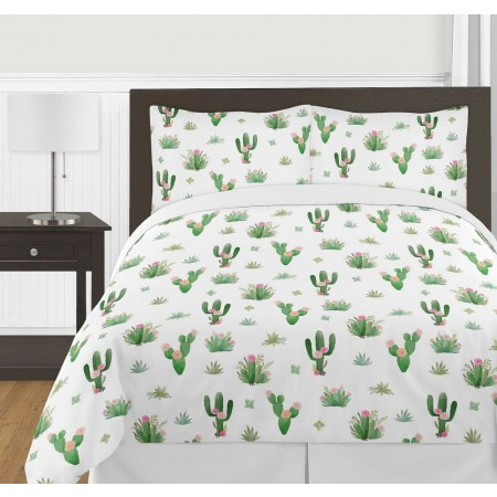 Cactus Floral Comforter Set - 3 Piece Full/Queen Size By Sweet Jojo Designs