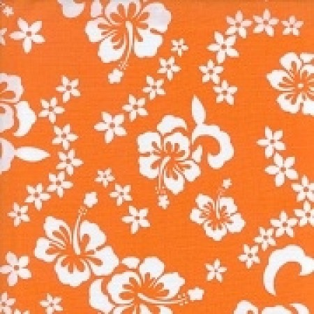 Orange Hibiscus Print Bunkbed Hugger Comforter by California Kids (Clearance)