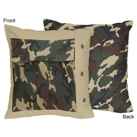 Green Camouflage Accent Pillow