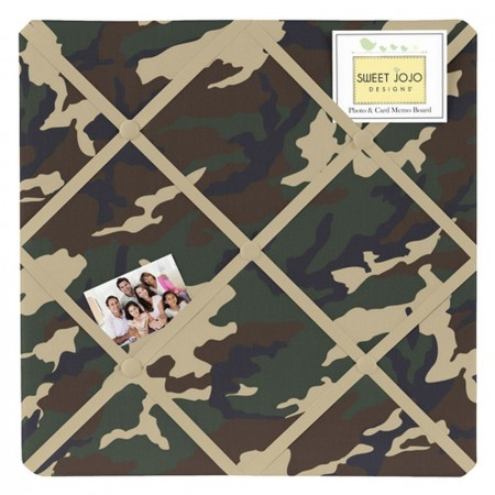 Green Camouflage Fabric Memo Board