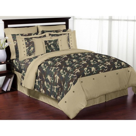 Green Camouflage Comforter Set - 3 Piece Full/Queen Size By Sweet Jojo Designs