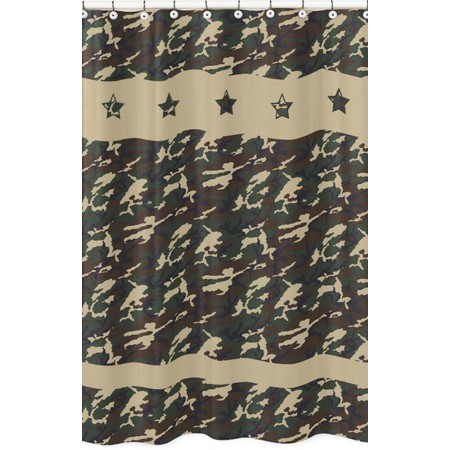 Green Camouflage Shower Curtain