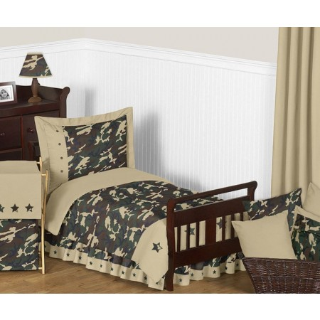 Green Camouflage Toddler Bedding Set By Sweet Jojo Designs